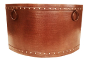 Copper Double Wall Corner Bath Tub 46""