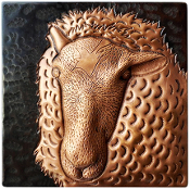 "Copper 4"" Tile Sheep"